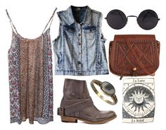 """kids gone hippie"" by youremydeadlypoison ❤ liked on Polyvore featuring ROZAE, Bronx and Title Unknown"