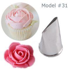 1 pc flor bico pastelaria bolo confeiteiro piping decoração creme Cupcake decoração R$ 2,67