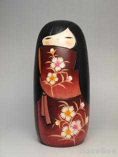 Nadeshiko Japanese Sousaku Kimono Kokeshi Doll design by Nozawa Kaoru