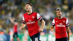 Ramsey celebrates his brilliant goal against Fenerbahce.