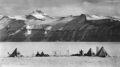 Photo of Mount Buckley taken by Captain Robert Scott not long before he died returning from the South Pole in March 1912.