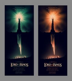 Lord of the Rings posters (Olly Moss)