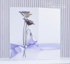 Memory Box Chloe Stem Die: Silver with lilac shadow