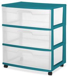 Sterilite - Large chariot 3 tiroirs | Walmart.ca - 15 1/4po L x 21 7/8po L x 25 5/8po H - 20$