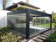 Glass House Garden, Glass House Design, Garden Room Extensions, House Extensions, Roof Terrace Design, Gym Room At Home, Shelter Design, House Extension Design, Balkon Design