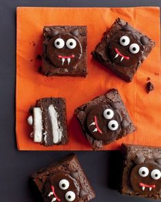 Scaredy-Cat Brownies for Halloween- filled with Peppermint Patties!