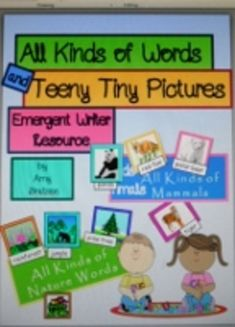 555 words/21 categories- this packet is an excellent resource for emergent and beginning literacy learners-use as a mini word wall or a literacy center picture dictionary-kids love the labels!