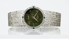 Lady's Piaget 18k White Gold Wristwatch. It has a : Lot 226