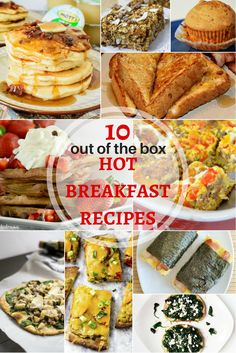 10 out of the box Hot Breakfast recipes for February's Hot Breakfast Month. Easy quiche, bacon maple pancakes, chocolate waffles, orange French toast, and more!!
