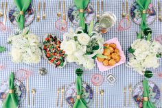 an outdoor Southern dinner party