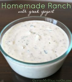 Ranch with Greek Yogurt Homemade Ranch with Greek Yogurt - A healthier version of the classic dressing.Homemade Ranch with Greek Yogurt - A healthier version of the classic dressing. Healthy Nutrition, Healthy Snacks, Healthy Eating, Healthy Recipes, Nutrition Quotes, Holistic Nutrition, Nutrition Education, Healthy Veggie Dips, Gastronomia