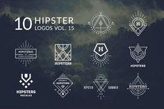 10 Hipster Logos Vol. 15 by Piotr Łapa on @creativemarket