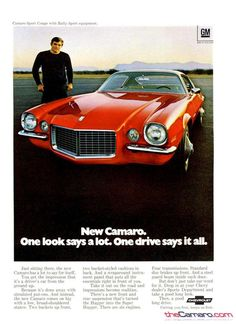 1970 Camaro Vintage Advertising from newspapers, magazines, television ...