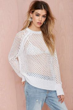 Public Image Net Sweater - Pullover | Tops | Clothes