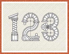 """다음 @Behance 프로젝트 확인: """"Roman Numerals"""" https://www.behance.net/gallery/13982697/Roman-Numerals"""