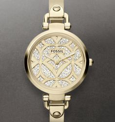 Georgia Three Hand Stainless Steel Watch - Gold-Tone New   $145