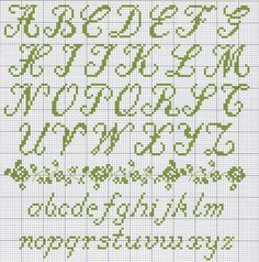 Counted Cross Stitch Alphabet