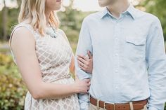Ann Arbor Arboretum and University of Michigan campus Engagement Session by Kari Dawson Photography.
