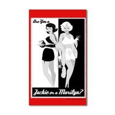 Mad Men Jackie or Marilyn Sticker | GoldLabel.com | madmen