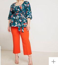 Orange slacks Eloquii Size 20 Plus Size Fashion For Women, Plus Size Womens Clothing, Clothes For Women, Size Clothing, Plus Size Dresses, Plus Size Outfits, Flare, Plus Size Shorts, Plus Size Model