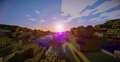 Sun is coming up,another beautiful day to build. Screenshot by: Jahija Okan  #minecraft #screenshot