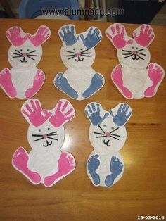 Most Fun and Easy Preschool Easter Crafts for Creative kids crafts for preschoolers Daycare Crafts, Bunny Crafts, Easter Crafts For Kids, Easter Ideas, Toddler Art, Toddler Crafts, Infant Crafts, Easter Activities, Craft Activities