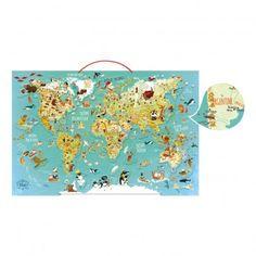 Magnet- Weltkarte  Vilac