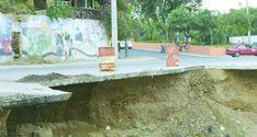 Piden Obras Públicas evite tragedia por derrumbes en avenida de Santiago
