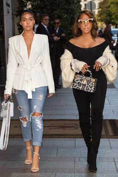 Marjorie and Lori Harvey - Marjorie Harvey Slayed Paris Fashion Week Like We Knew She Would