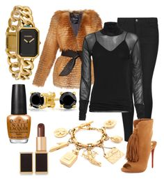 """Chestnut roasting on an open fire"" by perceptionandco on Polyvore featuring Indigo Collection, Chanel, Balmain, Bling Jewelry, Tom Ford, rag & bone and Christian Louboutin"