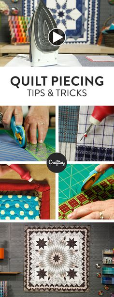 Need help with strip piecing? Quilter Laura Nownes comes to the rescue! Use these handy tips to square up your strips and fight bowed seams. Watch the video tutorial >>