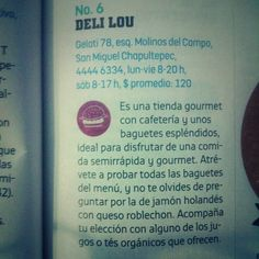 Deli Lou en el gusto de Chilango.com (Abril 2014)