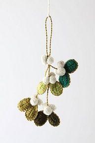Crocheted Mistletoe Ornament ~ Anthropologie