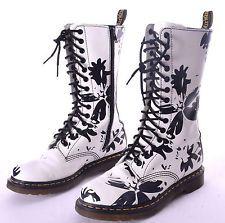 Dr doc martens 14 eye floral triumph boot in black massai c dr martens womens petula mid calf black white floral splash boots size us mightylinksfo