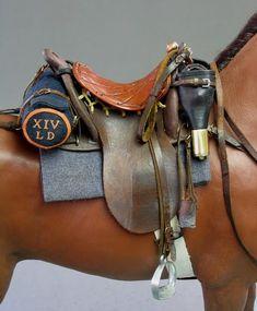 Making the Light Dragoon - OSW: One Sixth Warrior Forum ~ British Light Dragoon figure by Tony Barton) Horse Armor, Horse Gear, Horse Tack, Most Beautiful Animals, Beautiful Horses, Horse Saddles, Western Saddles, Cowboy Gear, Breyer Horses