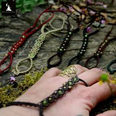 Macrame Ring bracelets in many colors ♡ They can be worn also as Barefoot Sandals...adjustable to fit any size ... check them out !