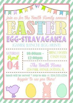 Easter Egg Hunt Invitation  Easter    Easter Egg And