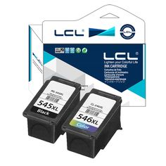 LCL PG545XL CL546XL PG545 CL546 XL (2-Pack) Ink Cartridge Compatible for Canon IP2850 MG2550 MG2500 MG2450 Platinum Series