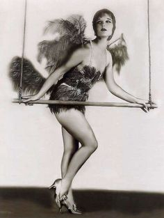 Vintage burlesque dancer.