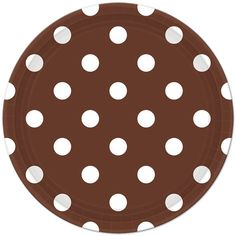 Brown Polka Dot Lunch Plates (8). We've also got Chevron and Solid Brown Party Supplies!