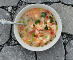 Cilantro Lime Coconut Shrimp Soup (non-dairy and Paleo)