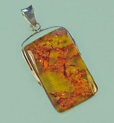 Handmade  genuine Baltic amber sterling silver by AmberViktoria, $45.00