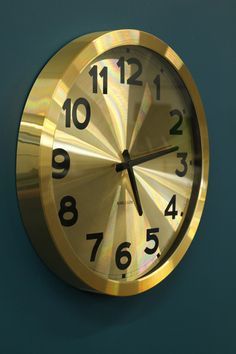 gold clock on pinterest clock wall clocks and george nelson. Black Bedroom Furniture Sets. Home Design Ideas