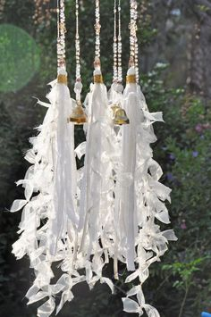 Unique wind chimes-outdoor wind chimes-garden wind chime-glass wind chime-wind b… - Bohemian Home Gypsy Home Decor, Bohemian Decor, Large Wind Chimes, Ceiling Hanging, Indian Fabric, Passementerie, Swarovski Crystal Beads, Suncatchers, Just For You