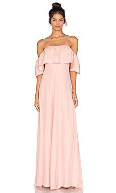 5723cbf9518d Amanda Uprichard Delilah Maxi Dress in Dusty Rose Dusty Rose Maxi Dress