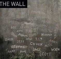 This makes me happy because names like Adam and Stan are on here that are mentioned in the books