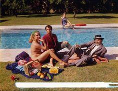 le Déjeuner sur l'herbe, prise de vue originale J. Montagnac, 1964 /   Remix from Manet Le Déjeuner sur l'Herbe (The Picnic)