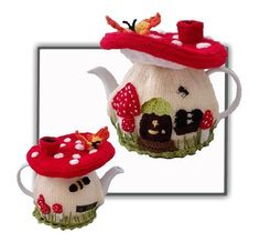 Fairy Mushroom House Tea Cosy                              …