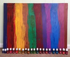 This abstract piece was inspired by Young Living Essential Oils. It was a piece that went to VA to a Young Living Rep. It took over 20 colors to create it.