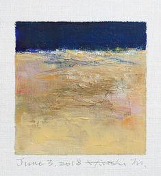 "June 3, 2018 9 cm x 9 cm (app. 4"" x 4"") oil on canvas © 2018 Hiroshi Matsumoto www.hiroshimatsumoto.com"